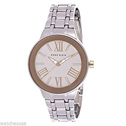 Anne Klein For Women Silver Dial Stainless Steel Band Watch AK/1757SVTT