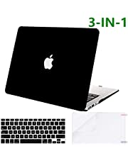 Proxima Direct Case for MacBook Air 13 Inch 2020 2019 2018 Release A1932 A2179, Rubberized Hard Case Cover & Keyboard Cover & Screen Protector Compatible MacBook Air 13 Inch, Matte Black