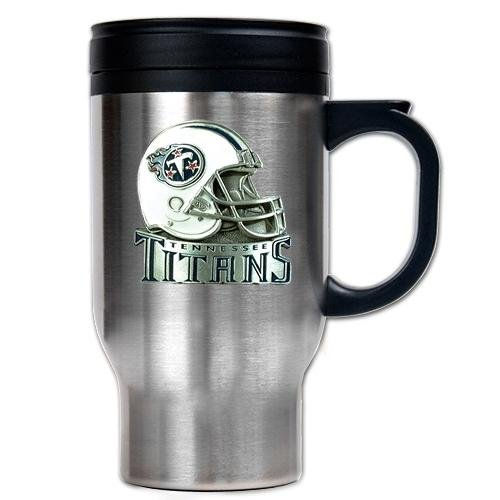 Great American Stainless Steel Helmet - Great American Products NFL Tennessee Titans 16-Ounce Stainless Steel Travel Mug - Helmet Logo