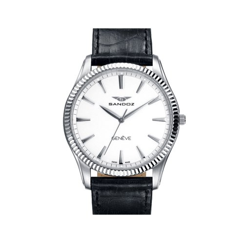 Sandoz. Reloj caballero con maquinaria suiza en acero y correa de piel.: Amazon.es: Relojes