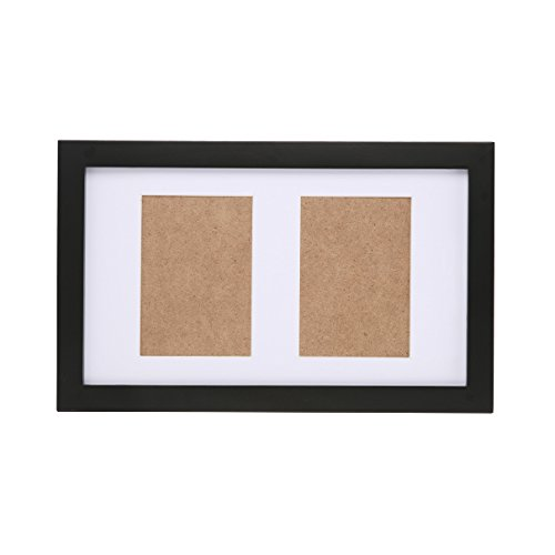 Fastnova 8x13 inch Black Wood Picture Frames Made to Display