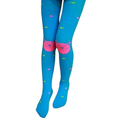 kaifongfu Baby Pantyhose,Autumn Girls Tights Bearded Girl Fashion Knitted Socks (Free Size, Sky (Knitted Gauze)