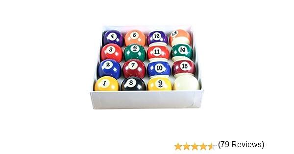 Set of Quality - Juego de bolas de billar (5 cm de diámetro, bola ...