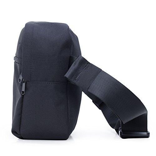 KEN Bolso de mano práctica de estilo Clásico y Casual Bolso para Hombres BKFB004 25.5x8.5x23CM (Verde) Negro
