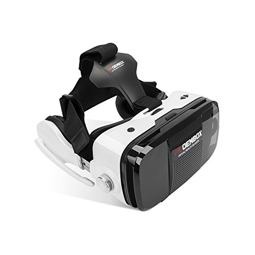 VR OEMBOX 3D VR Glasses,Virtual Reality 3D Headset Box Support iphone Samsung LG and Other Smart Phones with Headphone for Immersive Movies and Games by Phshion