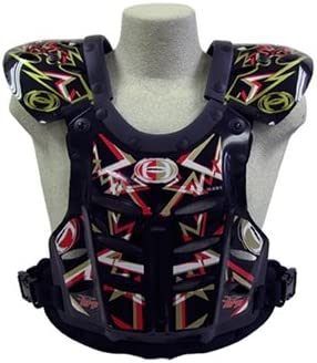 Large 145-190 lbs HRP Flak Jak IMS RC Motocross Chest Protector Black Red Gold Roost Deflector red