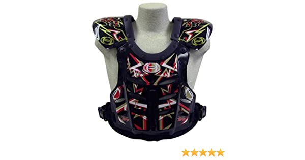 145-190 lbs Large HRP Flak Jak IMS RC Motocross Chest Protector Black Red Gold Roost Deflector red