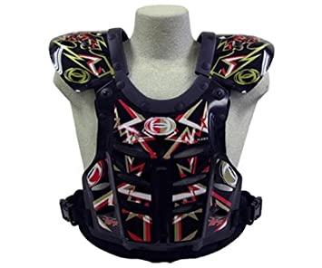 HRP Flak Jak Motocross kids Chest Protector Black Red Gold kids 95-125 lbs MADE IN USA HRP Sports