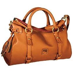 Dooney & Bourke Florentine Leather Satchel Natural