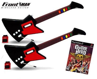 Guitar Hero Aerosmith for PS2 + Nyko Frontman Wireless Guitar Controller for PS2