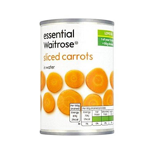 Sliced Carrots essential Waitrose 300g - Pack of 6