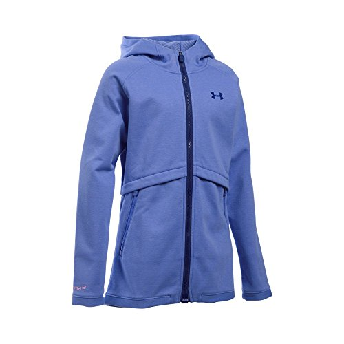 Under Armour Outerwear Girls ColdGear Dobson Softshell Hoodie, Violet Storm, Youth Large