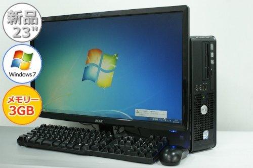 【限定品】 【中古パソコン】 デスクトップパソコン 23型ワイド液晶付 DELL OptiPlex DELL 760 B00BECFHVA SFF 760 Core2Duo-2.80GHz 3GB 250GB DVDスーパーマルチ Windows7搭載 リカバリ付 MRR B00BECFHVA, 串間市:a2bd3d71 --- arbimovel.dominiotemporario.com