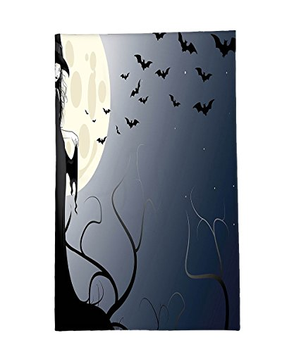 Interestlee Fleece Throw Blanket Halloween Decorations Collection Wicked Witch in Twilight on High Hill at Hazy Dark Night Magic Fiction Tale Black (Wicked Witch Bike)