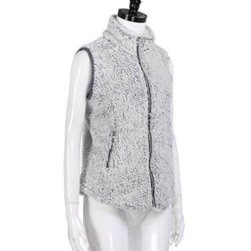 Clearance!! Women Vest Jackets,Lelili Winter Warm Faux Fur Zip Up Sherpa Jacket Outwear With Pockets