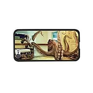 TYHde Sea Animal Unique Huge Octopus in Modern City House Cool Squid Design Iphone 5/5s Case Cover Hipster Personalized Case Skin ending