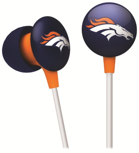 Orange Consumer Headphones (iHip NFF10200DEB NFL Denver Broncos Mini Ear Buds, Blue/Orange)