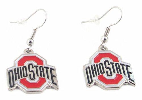 Ohio State Buckeyes - NCAA Team Logo Dangler Earrings (Osu Vs U Of O Civil War)