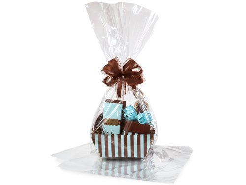 Large Clear Cellophane Bags Basket Bags Cello Bags 18X30 In