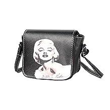 XY Fancy Women's Cartoon Printing Quadrate Handbags Ladies Single Shoulder Bag Marilyn Monroe