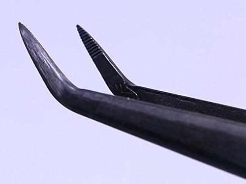 Bonsai Tweezers 200mm / angled Head / Forged Steel No.63a