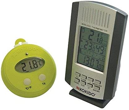 Kokido Thermomètre sans fil THERM'O avec base à fixer ou à poser KOKIDO