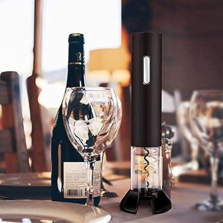 XTZJ 4 en 1 Conjunto de abridor de botellas de vino eléctrico OPERADO AUTOMÁTICO CORKSCREW CORKE INlescable Kit de removedor de corcho incluye tope de bomba de vacío Herramienta de corte de lámina Aer