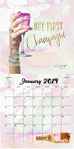 By Jodi 2019 Wall Calendar - Fashion Glam Art Illustrations, 12 Month Limited Edition Prints, Bonus Use As Framed Wall Art for Home, Office, or Dorm Rooms