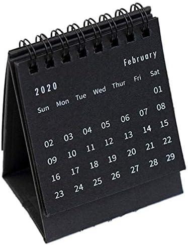 Kapokilly Papierkalender, Simplicity Coil Tischkalender Mini 2020 Innovativer Tischkalender Dekorativer Tischkalender, Zum Selbermachen Und Notieren, 7,5 × 9,5 cm