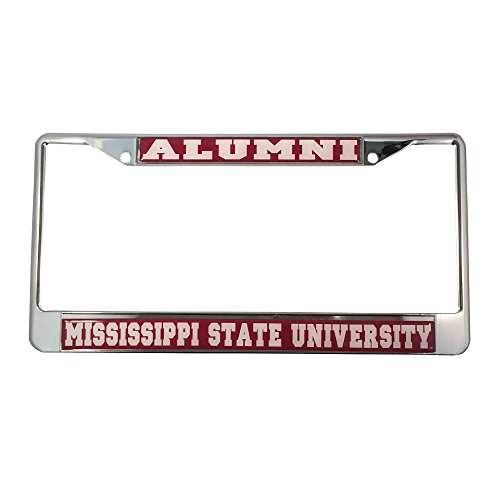 - Desert Cactus Mississippi State University License Plate Frame/Tag For Front Back of Car Officially Licensed (Alumni - Metal Frame)