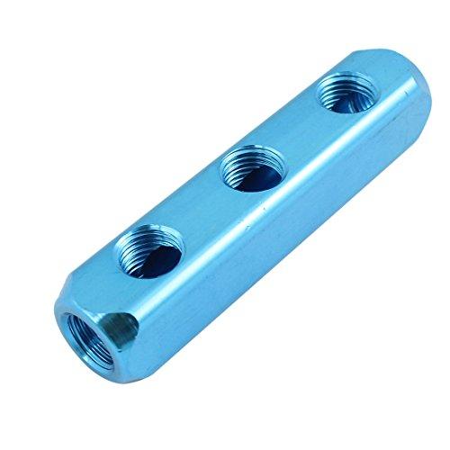 uxcell Air Compressor 1/4PT 3Way Hose Pipe Inline Manifold Block Splitter