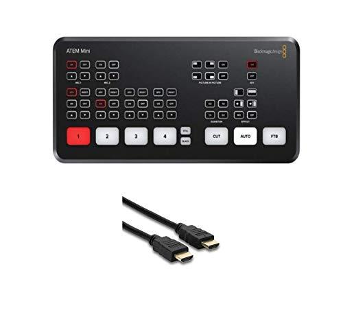Blackmagic Design ATEM Mini with Hosa HDMI 25' Cable Bundle