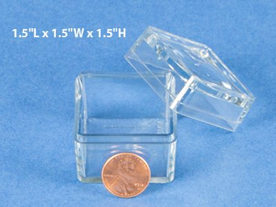 1.5 Inch Bug Boxes with Magnifying Lid (Pack of 10 Boxes)