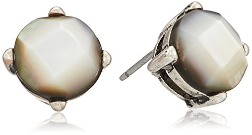 """Kenneth Cole New York """"River"""" Shell Round Stud Earrings"""