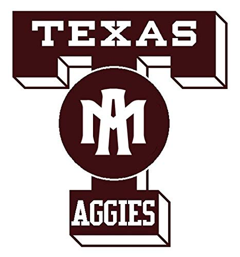 (SellingDecals ncaa1200 Texas A&M Aggies TAM Die Cut Vinyl Graphic Decal Sticker NCAA Color Choice 8