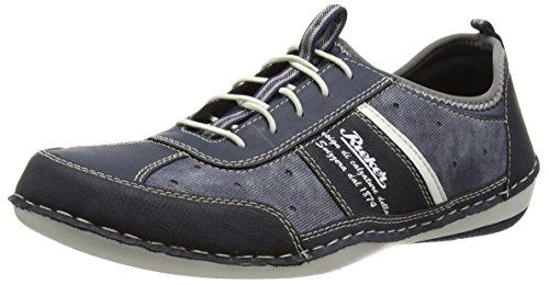 denim 16 weiss Rieker Homme Baskets Basses jeans atlantis Bleu B9267 ozean waZCqaYAx