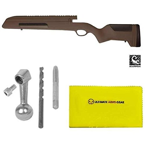 ATI Mauser 98 Stock Standard Bent Bolt, Large-Ring, German K-98's, Czech VZ-24, Yugo 48/48a, Turkish 1903/1937/1938/1946 Stock + Mauser 98 Bolt/Handle Parts Set Kit + Ultimate Arms Gear Cloth - Turkish Mauser Scope Mount