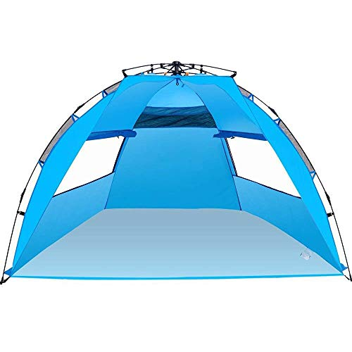 Amagoing 3-4 Person Instant Pop Up Beach Tent Sun Shelter
