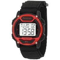 Armitron Sport Unisex 457004RED Reloj digital con cronógrafo en tono plateado y rojo acentuado
