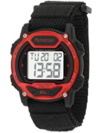 Unisex 457004RED Silver-Tone and Red Accented Chronograph Digital Watch