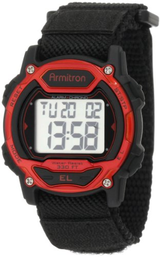 Armitron Sport Unisex 457004RED Silver-Tone and Red Accented Chronograph Digital Watch by Armitron Sport
