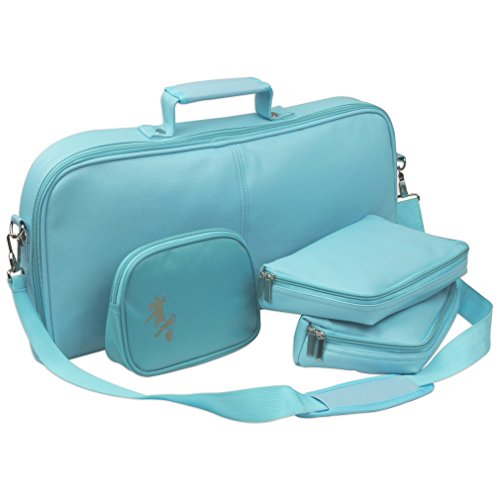 soft-leatherette-tote-bag-in-turquoise-for-mahjong-set