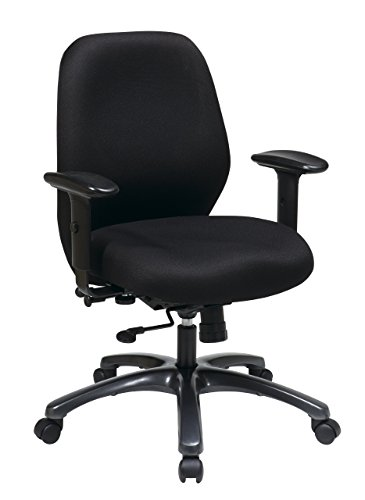 Synchro 1 Tilt Chair (Office Star High Intensity Use Ergonomic Chair with 2-To-1 Synchro Tilt, Black)
