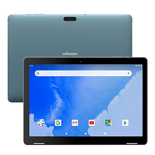 Winnovo T10 Tablet 10 inch Android 9.0 PC, 3GB RAM, 32GB Storage, Metal Frame, Dual Speaker, 5G WiFi, IPS Touchscreen, HDMI, GPS, Support Netflix, Play Store, CNN (Blue) (Inch Tablet 10 Pc)