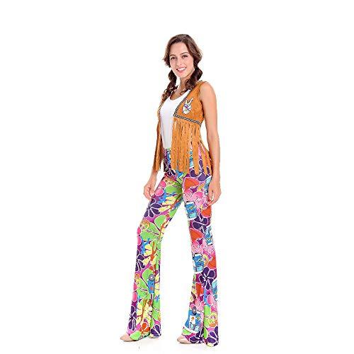 LVLUOYE Stage Costumes, 70's Disco Uniforms, Hip Hop Singer Performance Suits, Halloween Hippie Retro Costumes,XL -