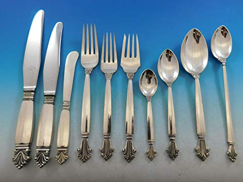 Acanthus by Georg Jensen Wendell Sterling Silver Flatware Set 12 Service 183 pcs