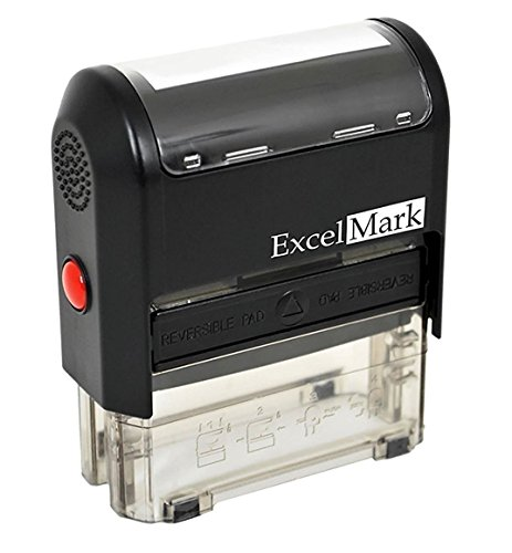 Custom Self Ink - Self Inking Rubber Stamp with up To 4 Lines of Custom Text (42A1848)