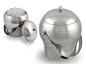 Signature Taille Luxury Ice Bucket and Lid. Hammered Finish by Signature