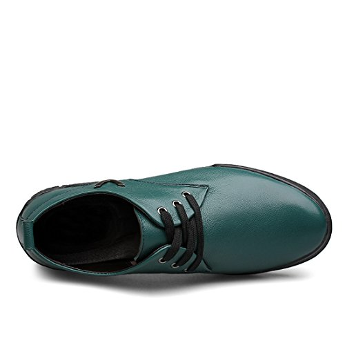 Minishion Boys Mens Comfortable Lace-up Walking Shoes With 3-Eyes Green xLC8nuhqv