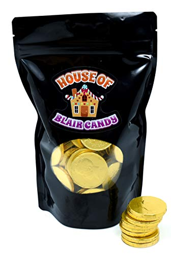 Chocolate Large Half Dollar Coins - Come in a Sealed / Resealable Candy Bag - Perfect For Halloween Parties, Pinata, Office Bowl, Wedding Favors, or Easter Baskets (2 ()